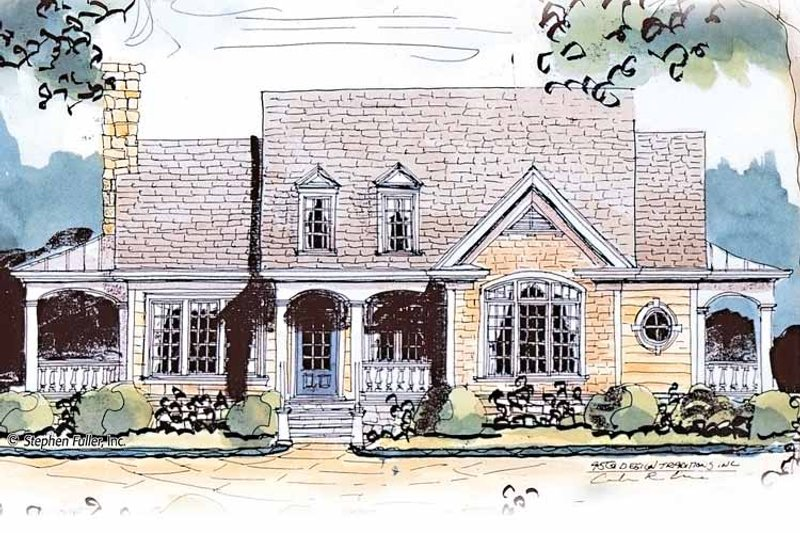 Country Exterior - Front Elevation Plan #429-430 - Houseplans.com