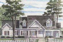 Architectural House Design - Colonial Exterior - Front Elevation Plan #316-255