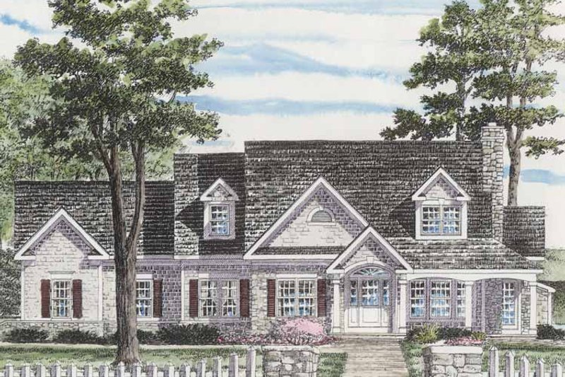Home Plan - Colonial Exterior - Front Elevation Plan #316-255