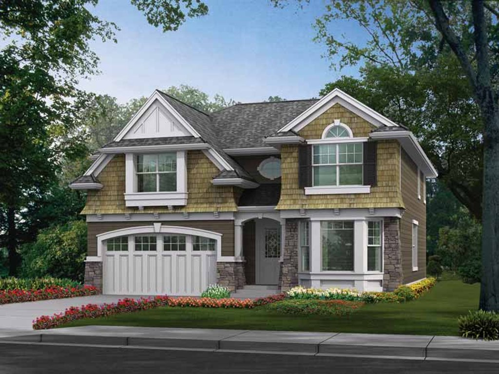 Craftsman style house plan 4 beds 2 5 baths 2651 sq ft for Craftsman vs mission style