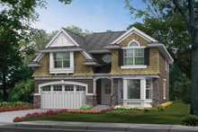 Craftsman Exterior - Front Elevation Plan #132-259