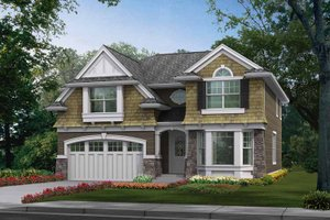 Architectural House Design - Craftsman Exterior - Front Elevation Plan #132-259