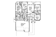 Country Floor Plan - Main Floor Plan Plan #310-1272