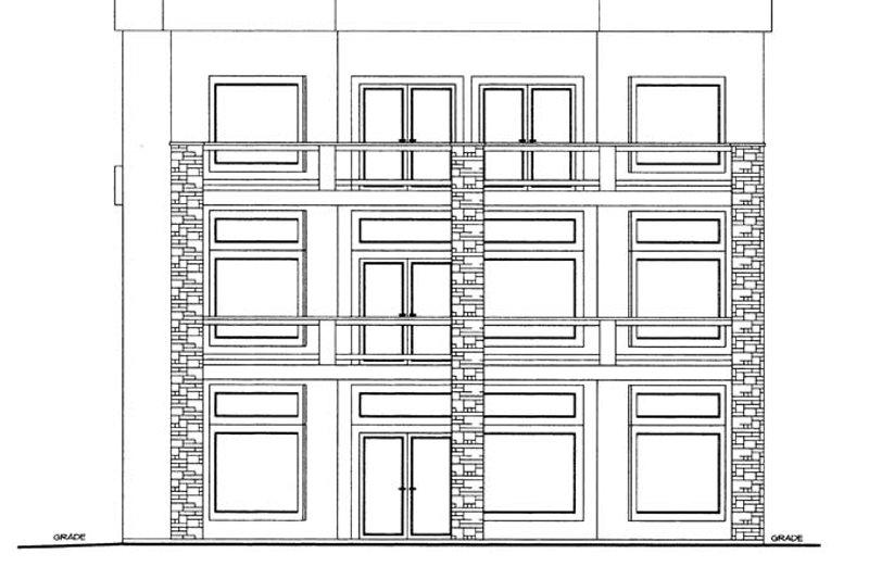 Contemporary Exterior - Rear Elevation Plan #117-862 - Houseplans.com