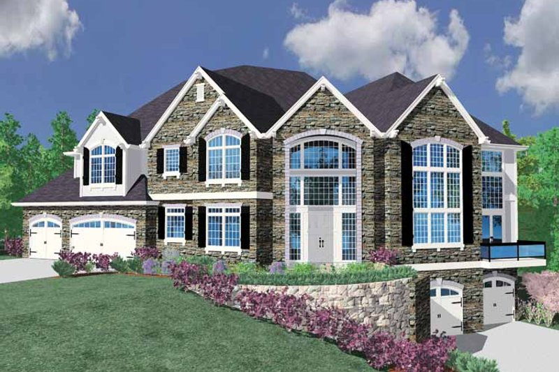 Country Exterior - Front Elevation Plan #509-397 - Houseplans.com