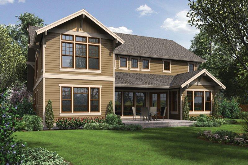 Craftsman Exterior - Rear Elevation Plan #48-905 - Houseplans.com