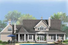 Country Exterior - Rear Elevation Plan #929-857