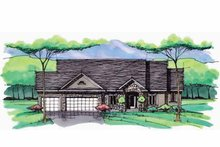 European Exterior - Front Elevation Plan #51-984