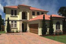 House Plan Design - Mediterranean Exterior - Front Elevation Plan #930-434