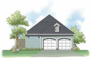 Country Style House Plan - 3 Beds 3 Baths 1942 Sq/Ft Plan #930-397 Exterior - Rear Elevation