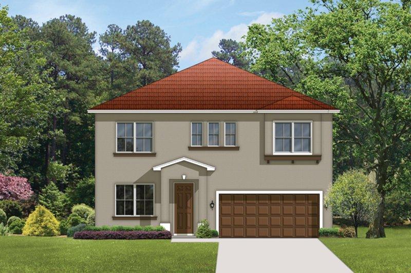 House Plan Design - Mediterranean Exterior - Front Elevation Plan #1058-61