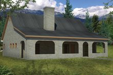 Cottage Exterior - Rear Elevation Plan #1061-10