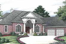 Colonial Exterior - Front Elevation Plan #453-563