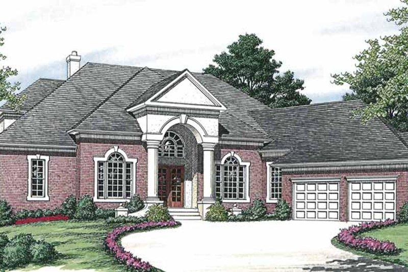 Colonial Exterior - Front Elevation Plan #453-563 - Houseplans.com