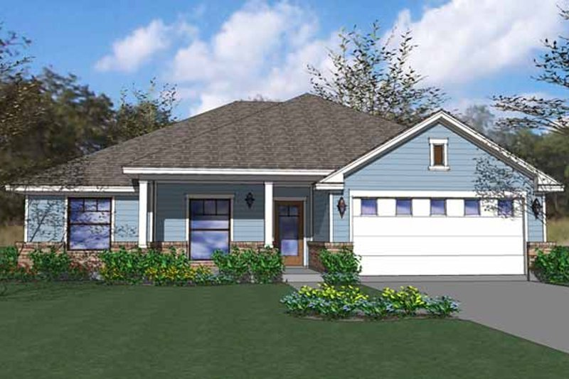 Country Exterior - Front Elevation Plan #120-208