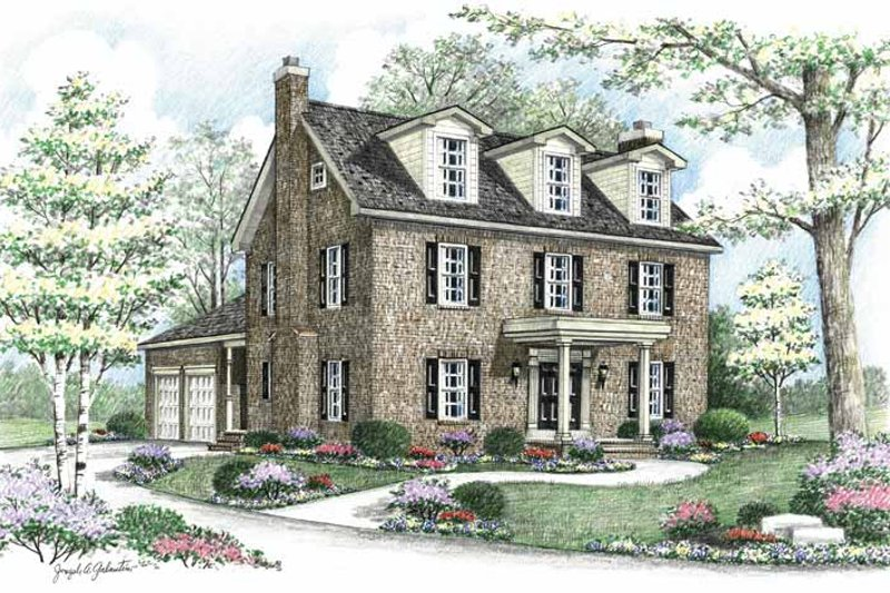 Country Exterior - Front Elevation Plan #1002-8