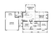 Traditional Style House Plan - 4 Beds 2.5 Baths 2716 Sq/Ft Plan #1010-94 Floor Plan - Main Floor Plan