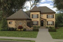Country Exterior - Front Elevation Plan #413-909