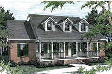 Country Exterior - Front Elevation Plan #44-201