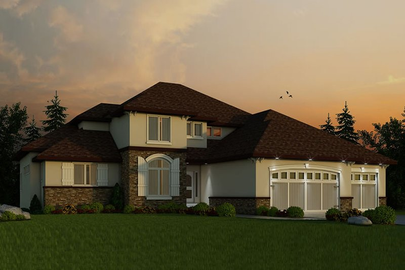 European Exterior - Front Elevation Plan #20-2245
