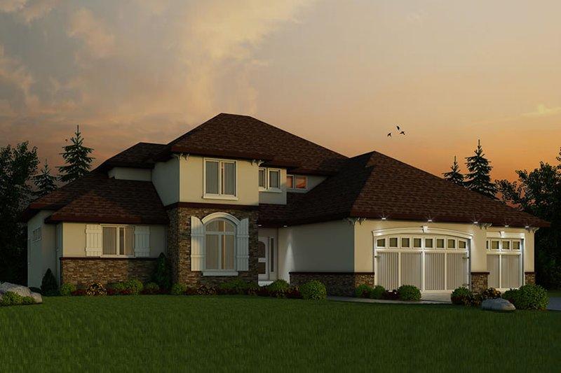 Architectural House Design - European Exterior - Front Elevation Plan #20-2245