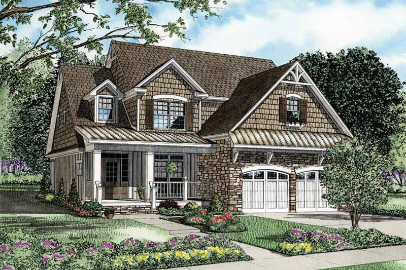 Country Exterior - Front Elevation Plan #17-2822