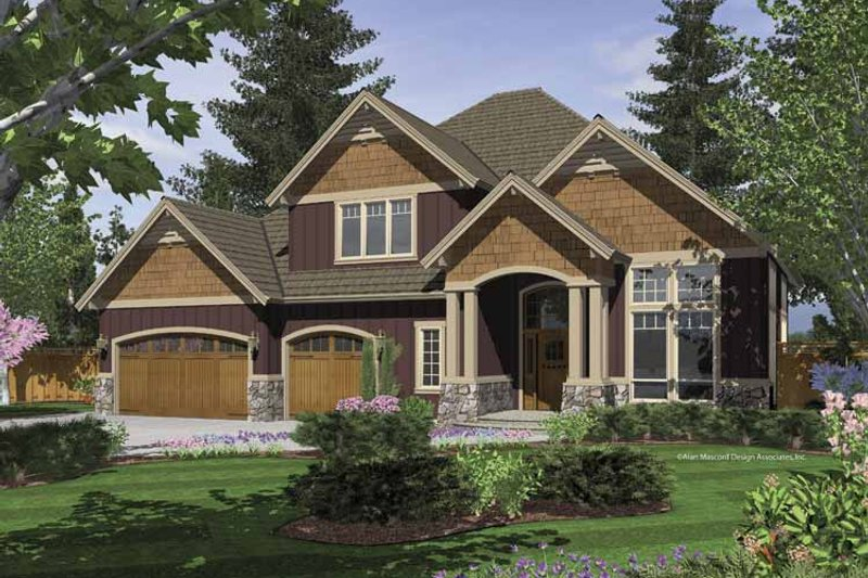 Craftsman Exterior - Front Elevation Plan #48-847