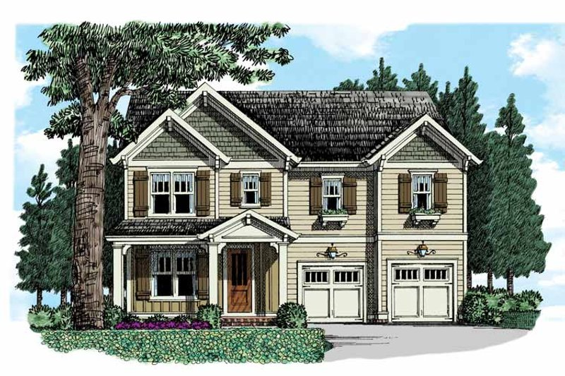 Country Exterior - Front Elevation Plan #927-950