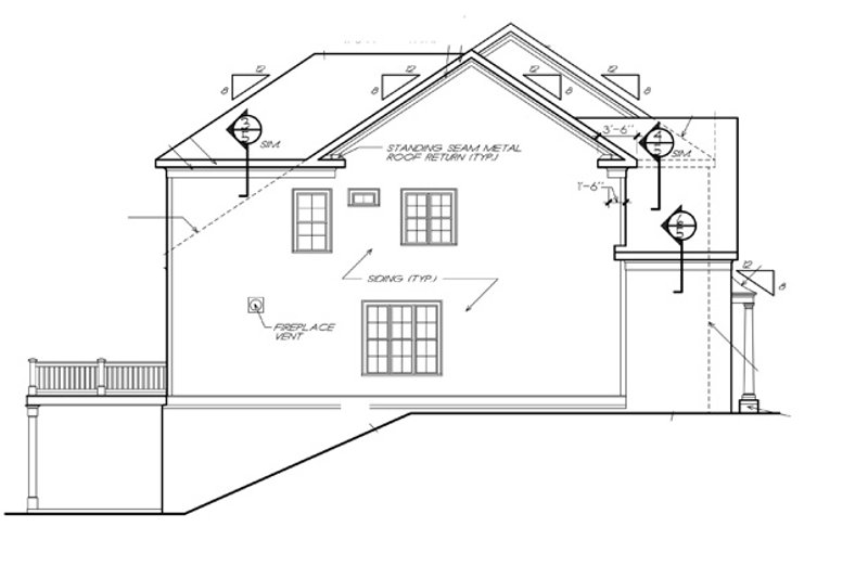 Traditional Exterior - Other Elevation Plan #927-537 - Houseplans.com