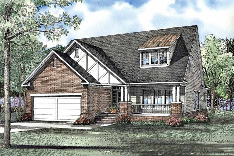 Craftsman Exterior - Front Elevation Plan #17-3096