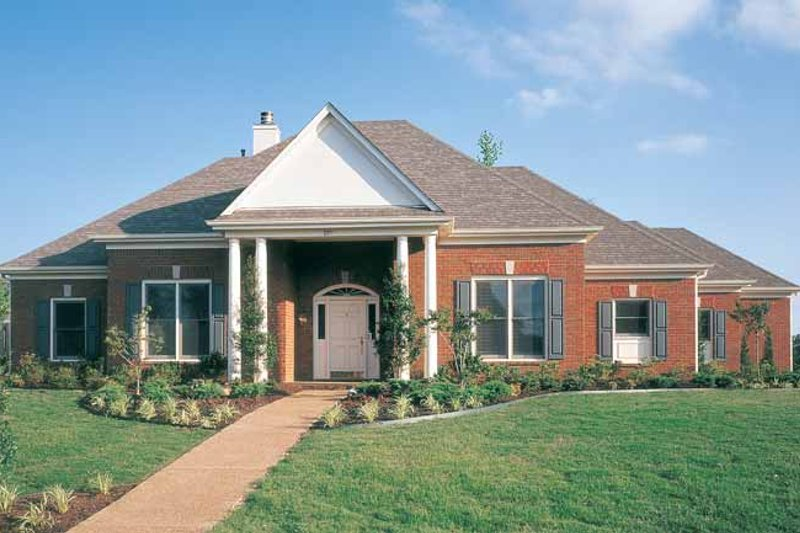 Colonial Exterior - Front Elevation Plan #952-13 - Houseplans.com