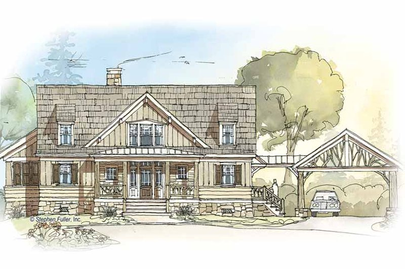 Country Exterior - Front Elevation Plan #429-350 - Houseplans.com