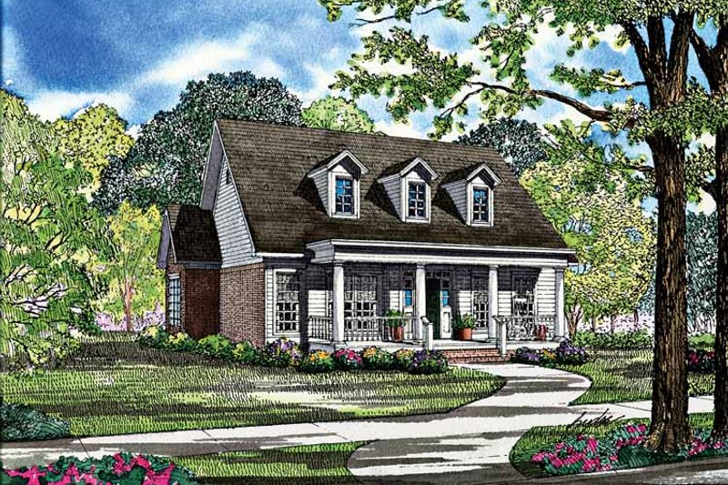 Dream House Plan - Classical Exterior - Front Elevation Plan #17-3002