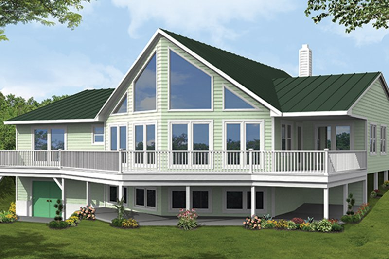 Country Exterior - Front Elevation Plan #1061-12 - Houseplans.com