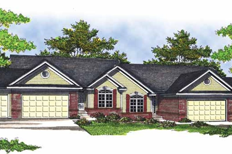 Ranch Exterior - Front Elevation Plan #70-1406
