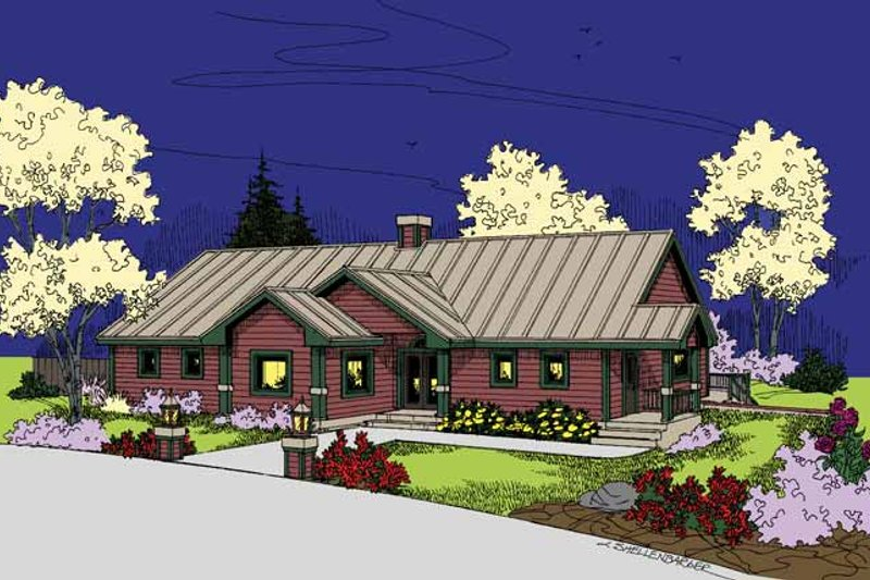 Dream House Plan - Ranch Exterior - Front Elevation Plan #60-1028