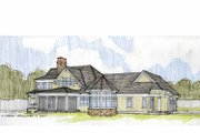 Craftsman Style House Plan - 4 Beds 3.5 Baths 3878 Sq/Ft Plan #928-184 Exterior - Rear Elevation
