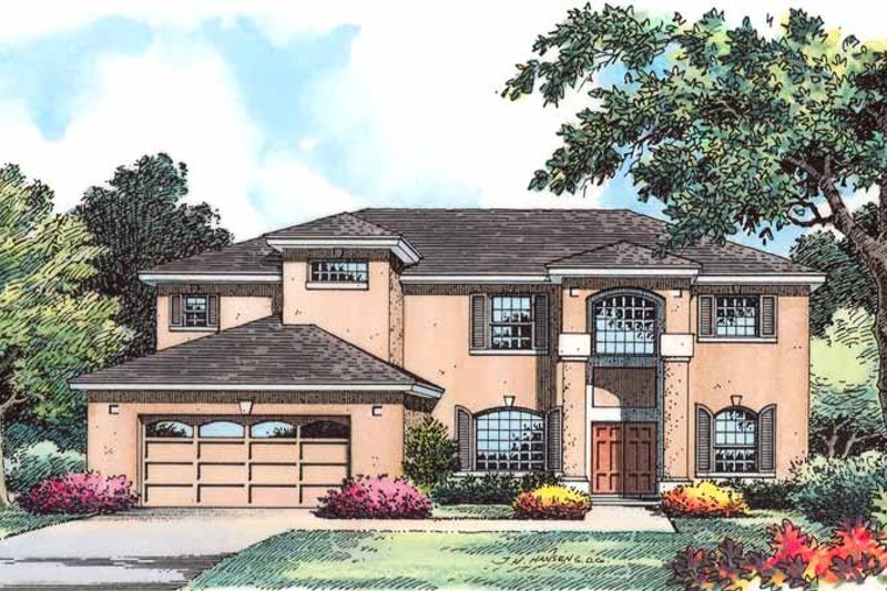 Country Exterior - Front Elevation Plan #1015-52