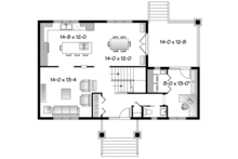 Traditional Floor Plan - Main Floor Plan Plan #23-2508