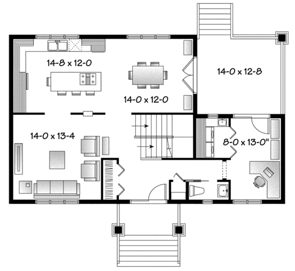 Home Plan - Traditional Floor Plan - Main Floor Plan #23-2508