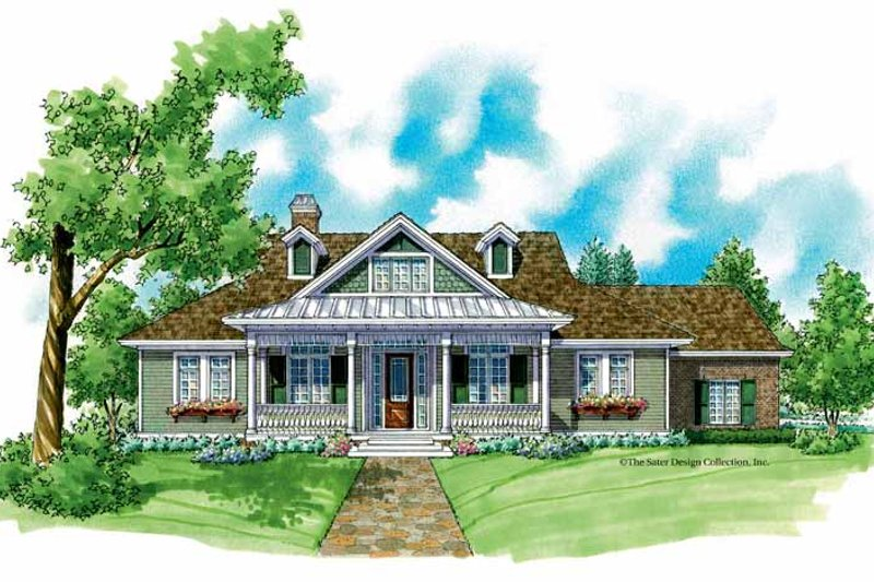 Architectural House Design - Country Exterior - Front Elevation Plan #930-218