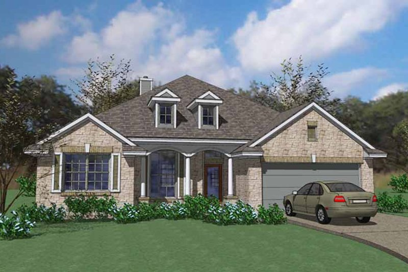 Country Exterior - Front Elevation Plan #120-238