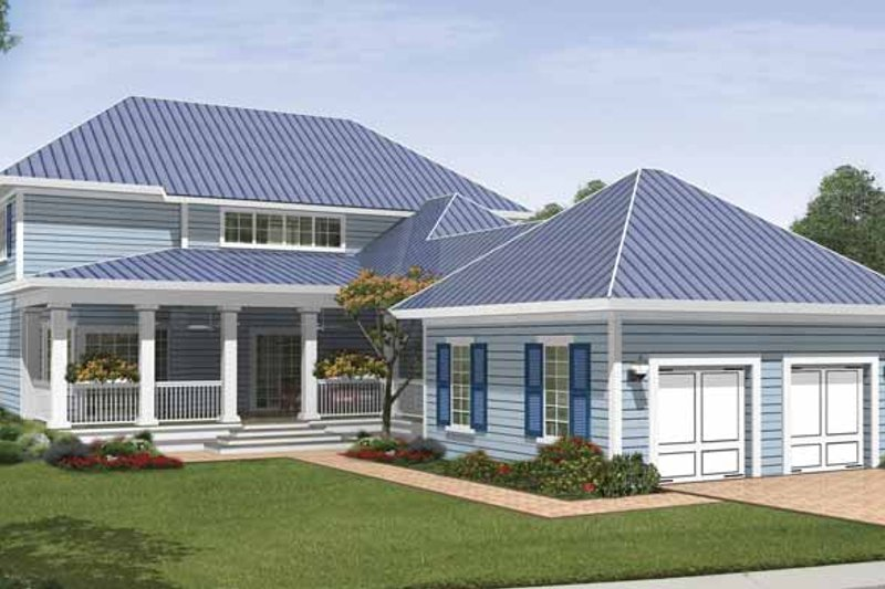 Country Exterior - Rear Elevation Plan #930-410 - Houseplans.com