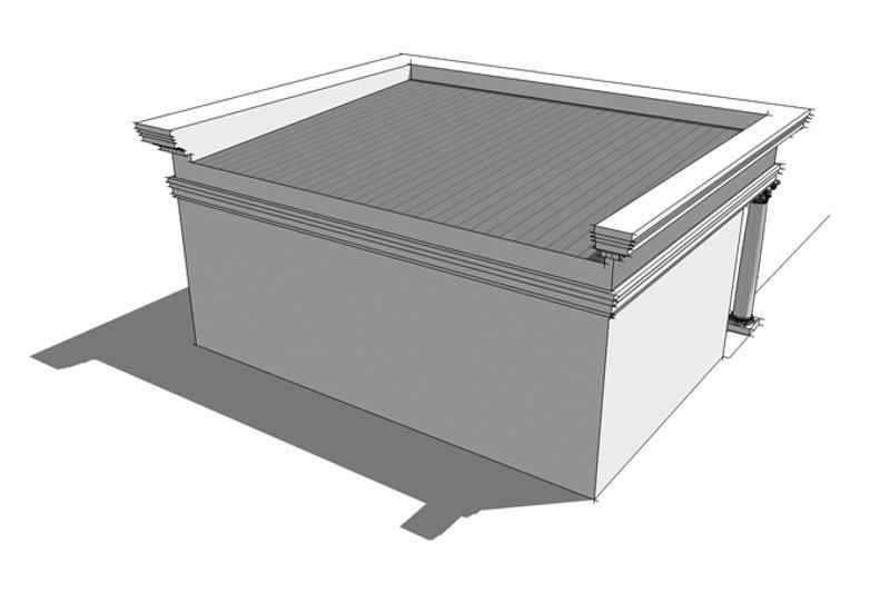 Classical Exterior - Rear Elevation Plan #64-323 - Houseplans.com