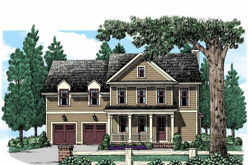 Country Exterior - Front Elevation Plan #927-946 - Houseplans.com
