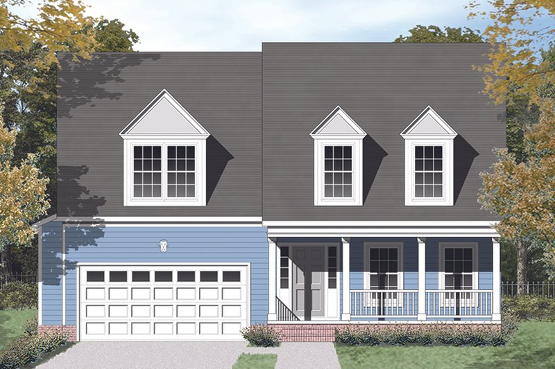 Colonial Exterior - Front Elevation Plan #1053-72 - Houseplans.com