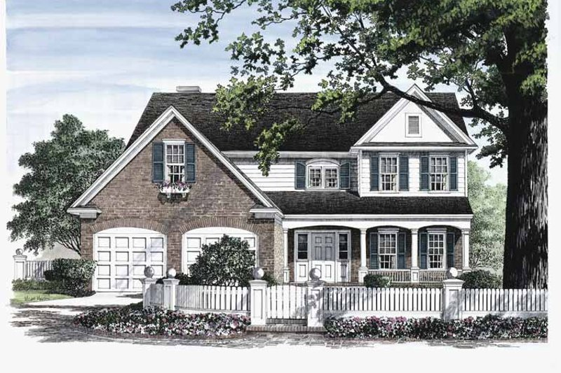 Country Exterior - Front Elevation Plan #137-302 - Houseplans.com