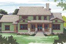 Craftsman Exterior - Rear Elevation Plan #453-445