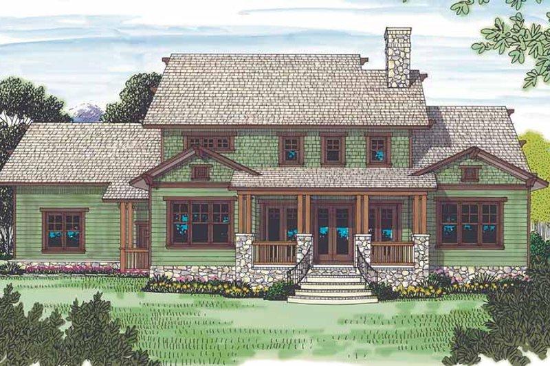 Craftsman Exterior - Rear Elevation Plan #453-445 - Houseplans.com