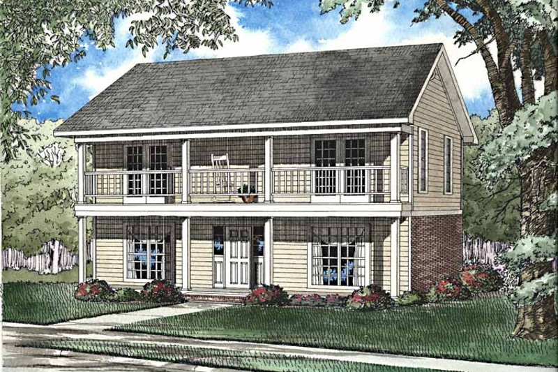 Classical Exterior - Front Elevation Plan #17-3239